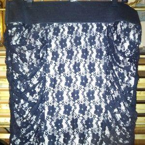 Torrid Black Lace Mini Skirt